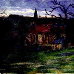 Eglise au crépuscule