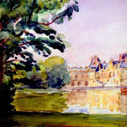 Château, Etang aux Carpes (approche 2)