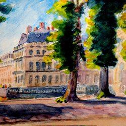 Château, Etang aux Carpes (approche 3)