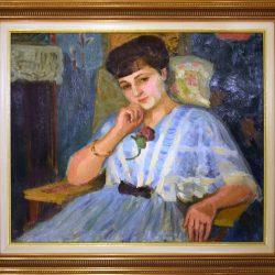 Femme en bleue