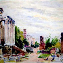 Rome, le Forum 1952