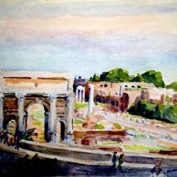 Rome, l'Arc de Septime Severe et le Forum