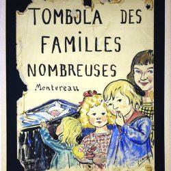 Montereau Tombola des Familles Nombreuses, Seine & Marne, France (Affiche)
