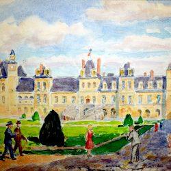 La Cour des Adieux, Château de Fontainebleau