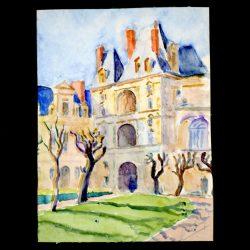 Château de Fontainebleau, côté Allée Maintenon