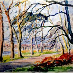 Paysage hivernal partie du Château de Fontainebleau